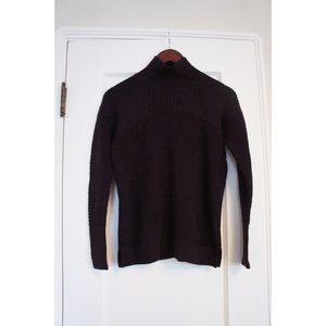 LULULEMON Maroon Burgundy Mock Neck Sweater